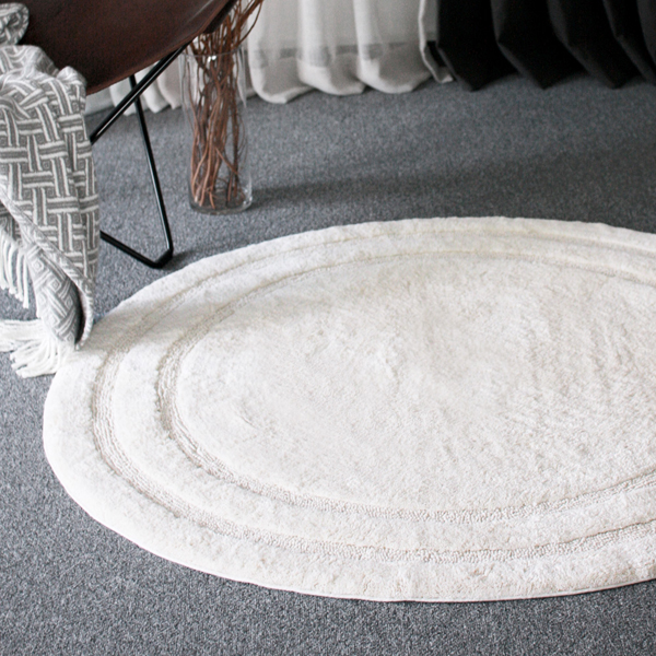 Double line circle rug(ivory)의 썸네일 이미지